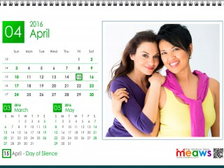 Calendar 2016 Lesbian printaple version April 2016