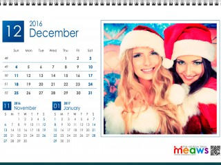 Calendar 2016 Lesbian printaple version December 2016