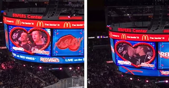 First Gay Kiss on Kiss Cam