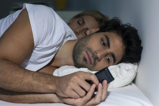 guy in bed