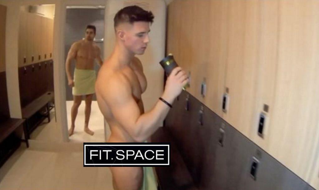 Men gym locker room showers masturbation