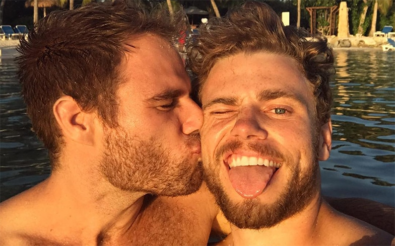 the stars to surround the gay couple on their winter