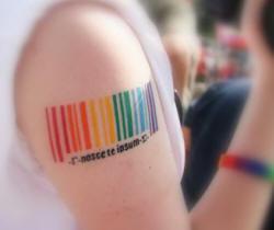 This rainbow barcode.