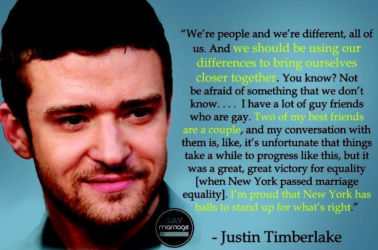 Justin Timberlake supports LGBT community