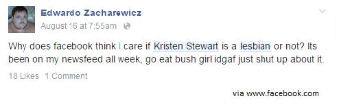 "K Stew : ""Google Me, I'm Not Hiding"""