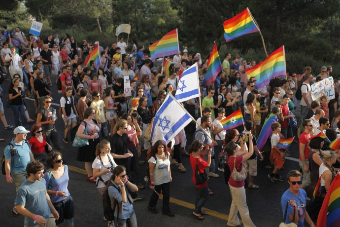 Israelis take part in the annual gay parade in jerusalem