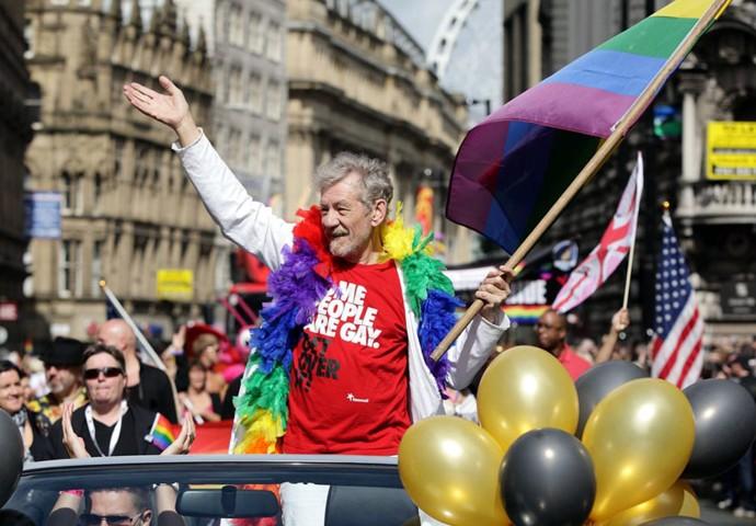 Ian Mckellen takes Manchester Pride LGBT