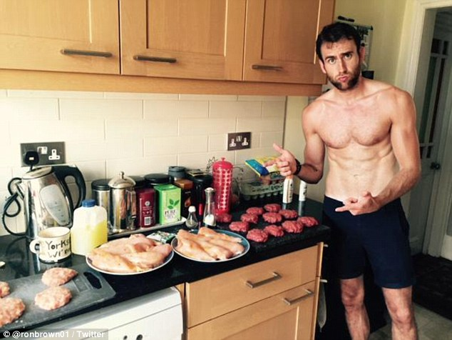 Matthew Lewis bares (almost) it all