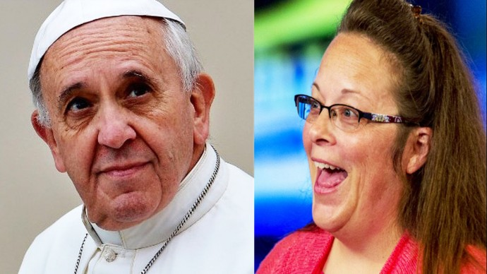 Kim Davis met with Pope Francis