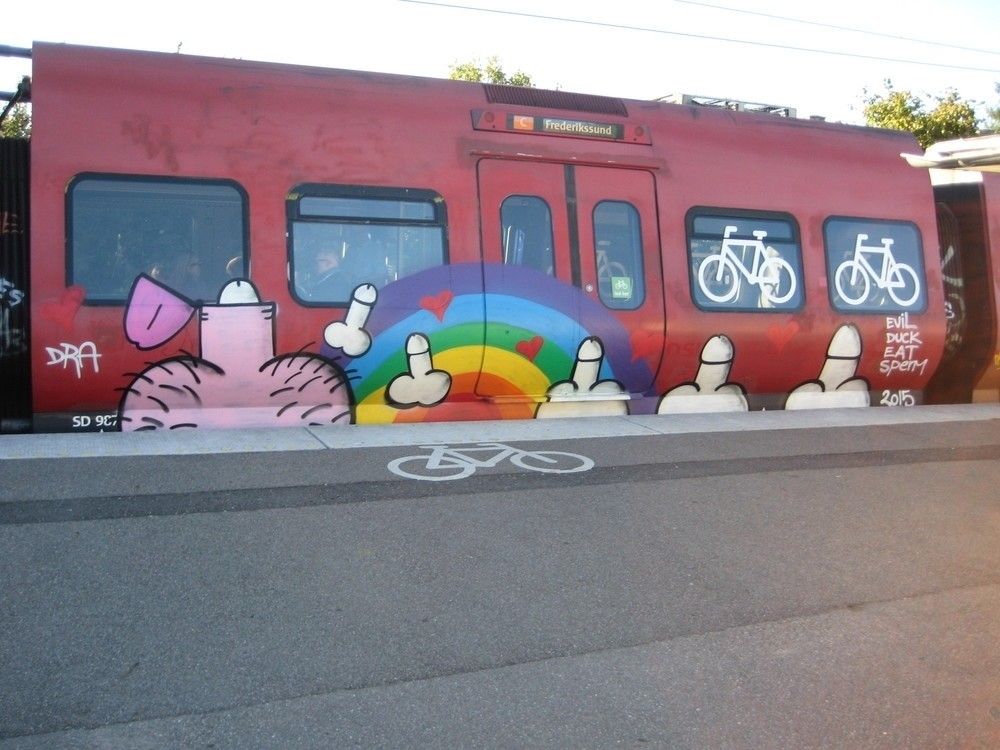 The gay street artist who has been decorating copenhagen with assholes and rainbows