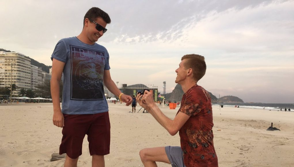 Gay British Olympian Tom Bosworth Proposes to Boyfriend at Rio Games