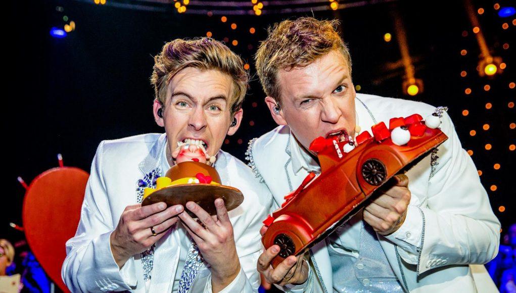 Two Belgian TV hosts