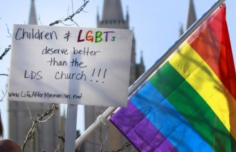 Mormons Protests Church