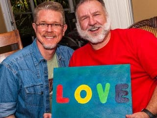 Gay couple photo themselves across three decades to prove it's not 'just a phase'