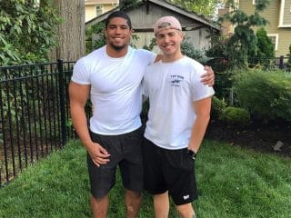Pro wrestler Anthony Bowens and boyfriend Michael Pavano open up about how they met