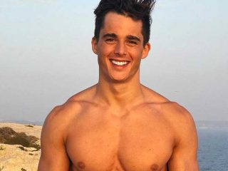 Pietro Boselli shows it off as he walks the runway in his underwear