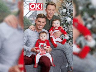 Hollyoaks star Kieron Richardson and husband show off adorable baby twins for first time