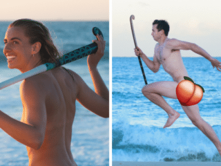 Naked LGBTI hockey team calendar is raising money for the best cause