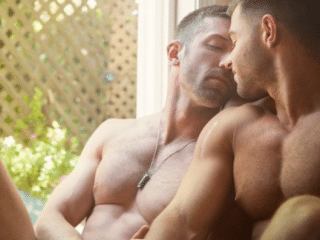 Drink up this hunky couple's sizzling underwear photos