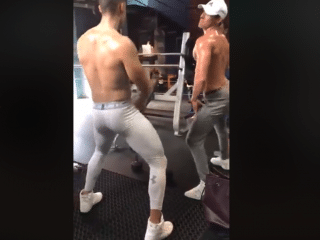 Hunks Twerk In The Gym!