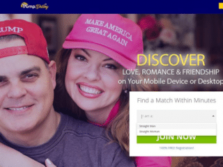 There's now a Trump dating site and you can't join if you're gay