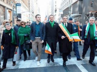 Gay Irish PM and his partner make history at New York's St Patrick's Day march