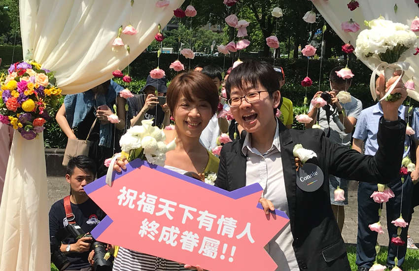 A happy couple in Taiwan (Photo: Provided)