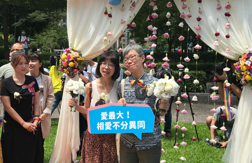 A same-sex couple just married in Taiwan (Photo:Provided)