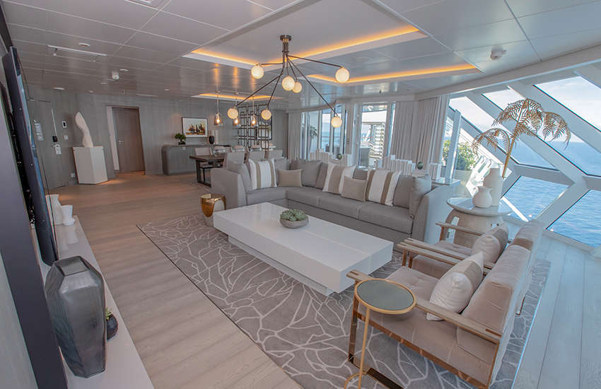 The spacious Iconic Suite on Celebrity Edge