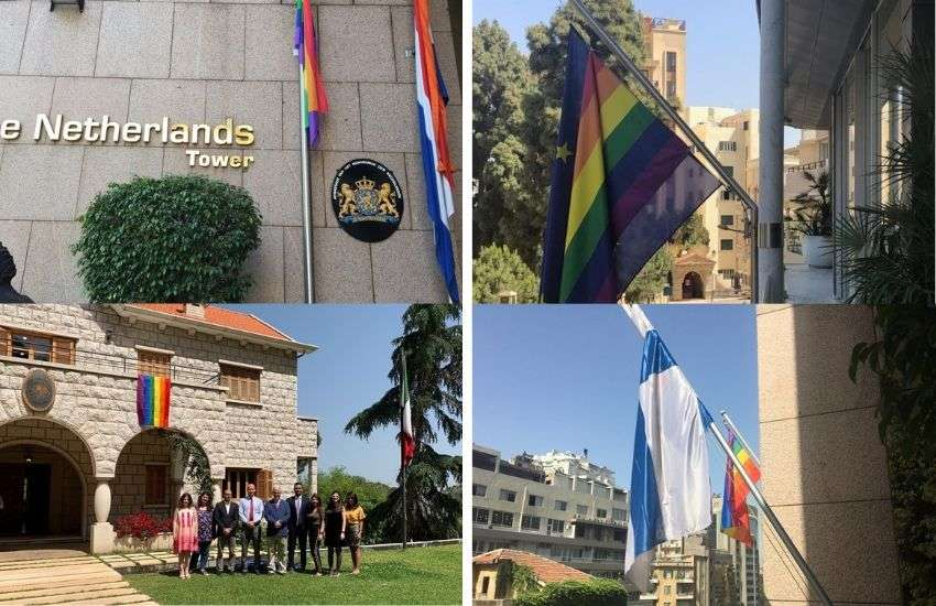 Netherlands, European Union, Mexico and Finland fly rainbow flags | Photo: Supplied