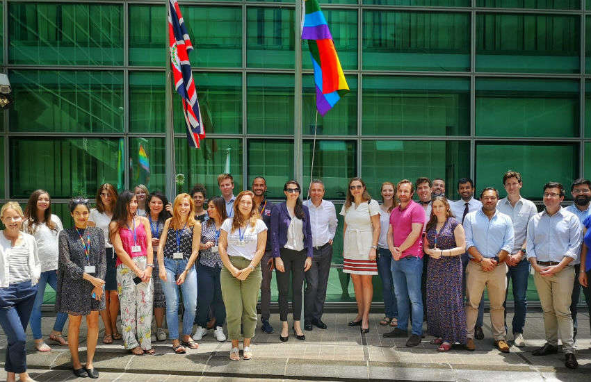 The UK embassy flies the rainbow flag in Beirut, Lebanon | Photo: Supplied