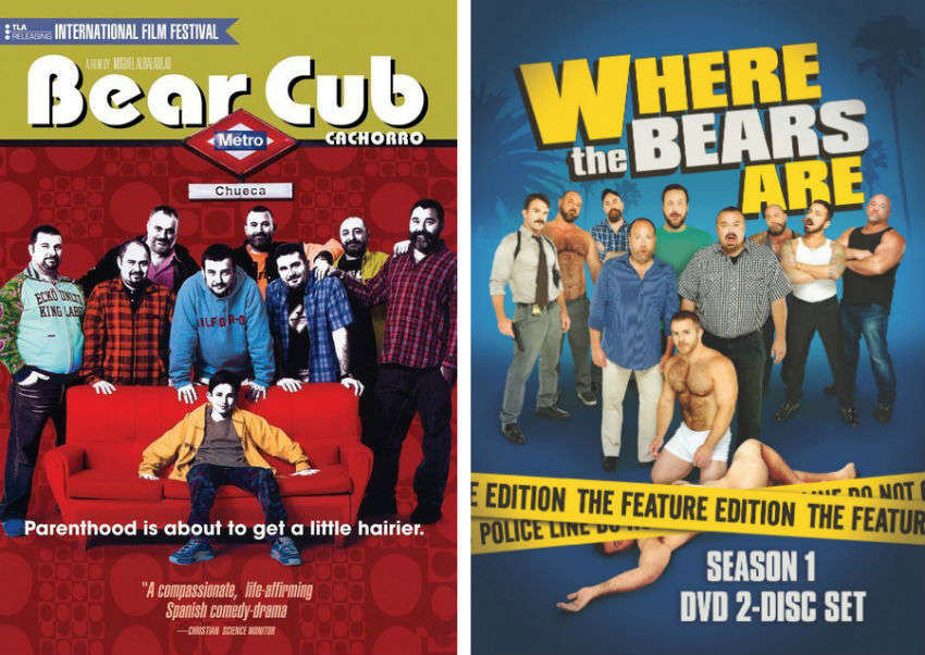 DVD artwork for Spanish gay-themed movie, Bear Cub (2004) and web-series, Where The Bears Are (2012)