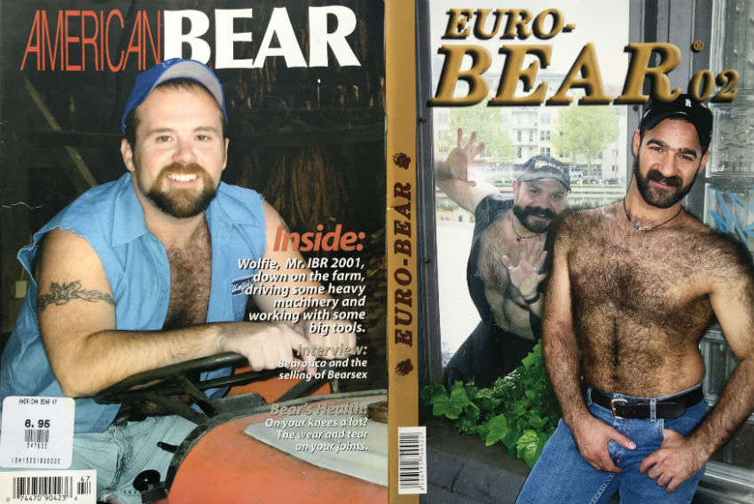 Mid-00s bear magazines from the US and Europe