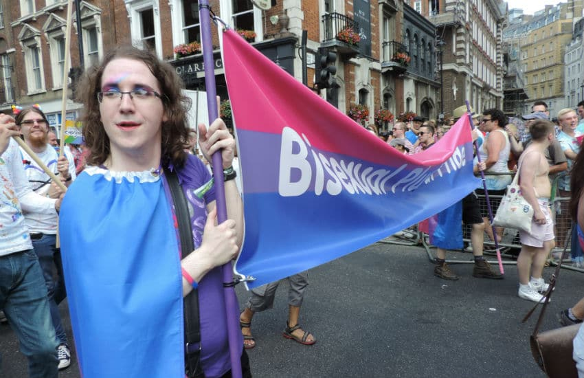 Bisexual rep in the Pride in London parade