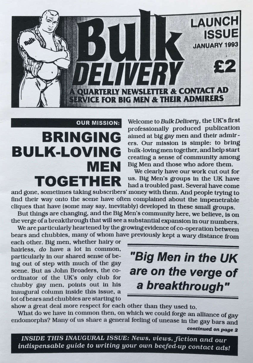 Bulk Delivery newsletter - a precursor of the London club, Bulk