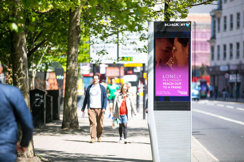 An InLink screen in London (Image: InLink)