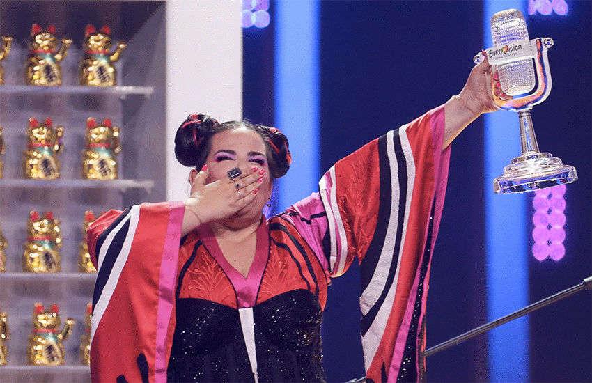 Netta Barzilai wins at last year's Eurovision | Photo: BBC
