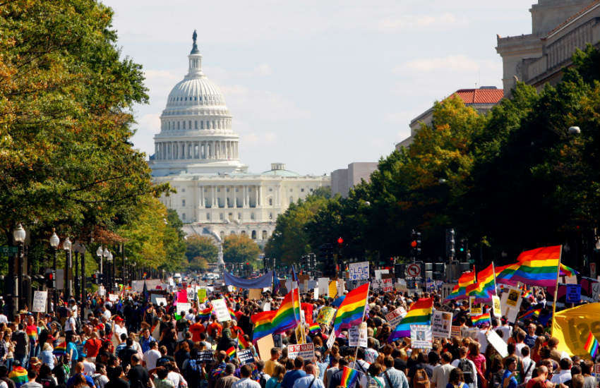 National Equality March in Washington, DC, 12 October 2009.