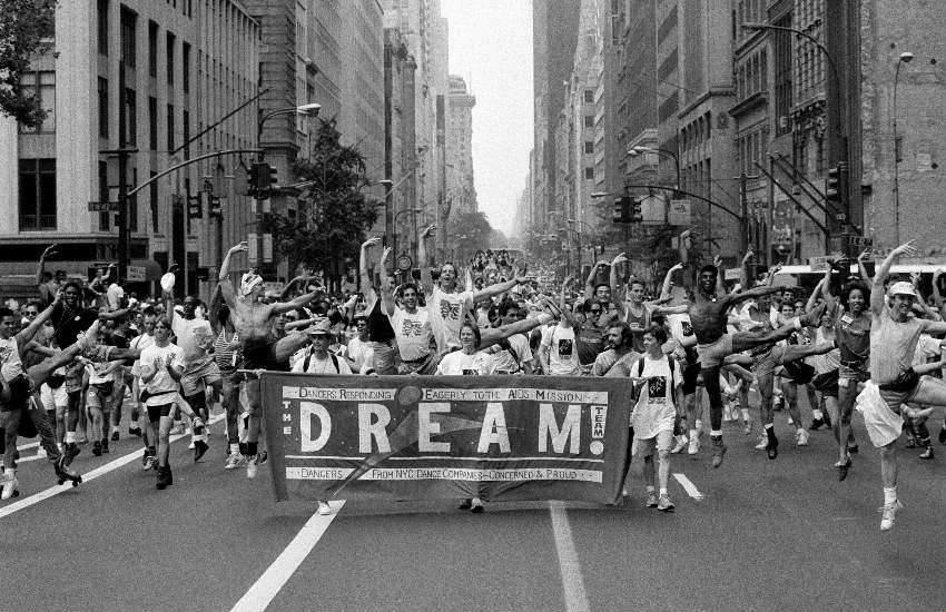 Dancers at Pride in New York in 1991.