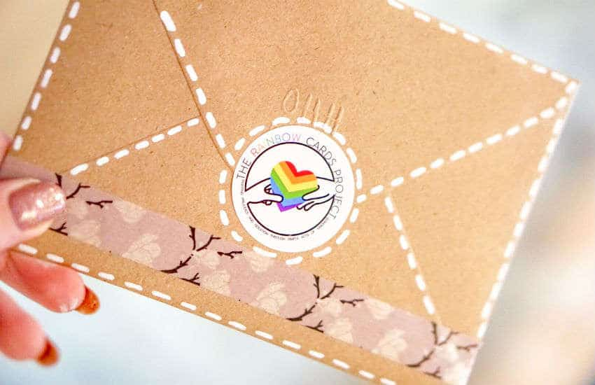 An envelope from the Rainbow Cards Project