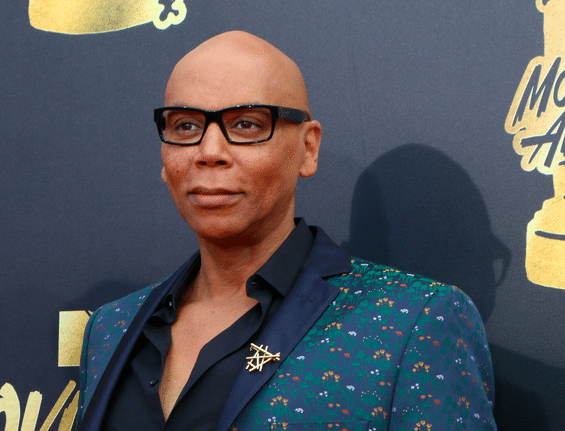 Rupaul on the step and repeat