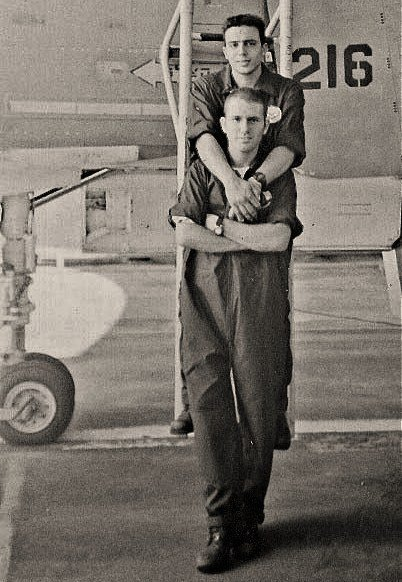 A vintage gay photo of pilots.