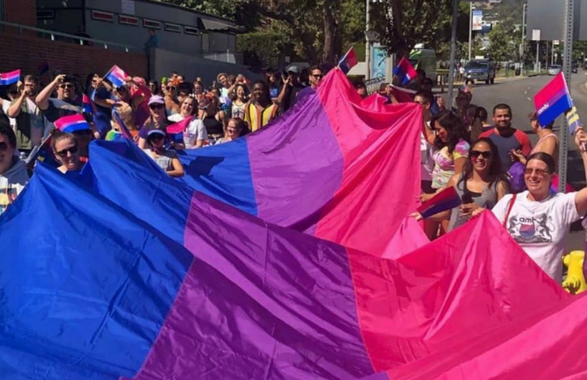 A bisexual Pride parade in 2018 - 2019 had been heralded the year of 20-bi-teen