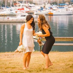 Olympic medalist and Canadian goalkeeper Erin McLeod wed Houston Dash teammate Ella Masar July 6, 2015.