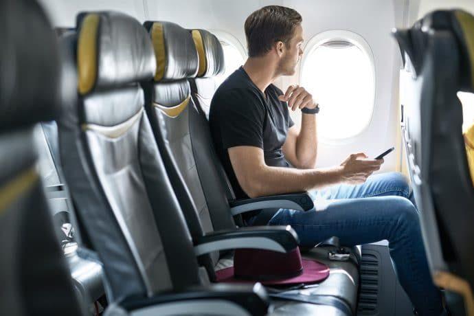 man in a plane