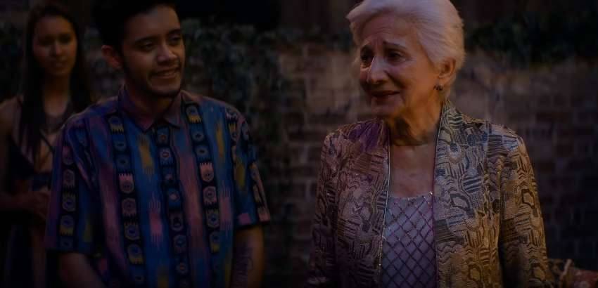 Garcia and Olympia Dukakis as Jake and Anna Madrigal in Tales of the City