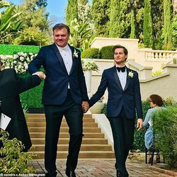 Former Dallas Cowboys linebacker Jeff Rohrer married Joshua Ross at the Wattles Mansion in Hollywood Hills in Los Angeles on November 18, 2018.