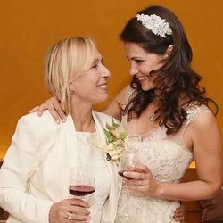 Martina Navratilova married her long-term partner Julia Lemigova in New York on December 15, 2014.