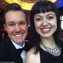 Team USA duathlon athlete Chris Mosier and his wife Zhen Heinemann wed in 2012. They met in college.