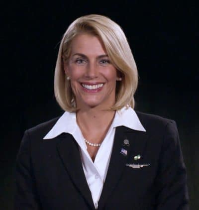 Association of Flight Attendants-CWA International President Sara Nelson